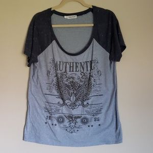 Maurices Sz 1 blue T-Shirt with beading